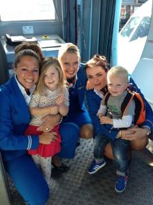 Mads en Fenna fly KLM